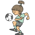 Girl soccer player.