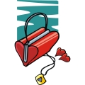 a red heart shaped purse gif, png, jpg