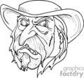 cowboy drawing gif, png, jpg, eps