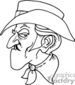 western cowboys cowboy vector black white eps gif jpg png gunslinger gunslingers gunfighter fighters fighter angry mean mad cartoon funny gif, png, jpg, eps