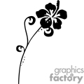 black and white hibiscus flower design