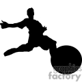 Silhouette of a soccer player