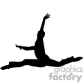 silhouette of a person doing ballet