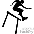man jumping a hurdle
