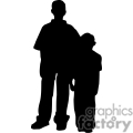 Silhouette of two boys