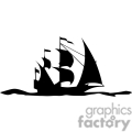 black and white pirate ship