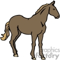 a single brown western horse