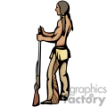 indian indians native americans western navajo holding gun guns vector eps jpg png clipart people gif