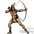 indian indians native americans western navajo hunter hunting bow and arrow vector eps jpg png clipart people gif
