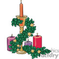 Candle center piece vector clip art image