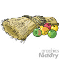 bushel of wheat vector clip art image