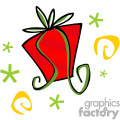 red christmas present with green bow gif, png, jpg