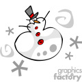 Whimsical snowman cartoon