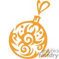 Single Ornate Christmas Bulb