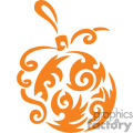 Single Ornate Orange Christmas Bulb