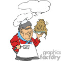 chef holding up his dinner plate gif, png, jpg, eps