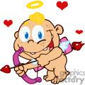 baby cupid with bow and arrow flying with hearts gif, png, jpg, eps