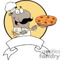 A Proud African American Chef Inserting A Pepperoni Pizza Banner