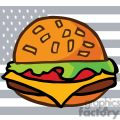 A Loaded Cheese Burger In Front of The USA Flag