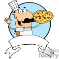 Pleased Male Pizza Chef With His Perfect Pepperoni Pizza Pie Banner