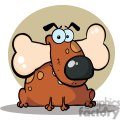2647-Royalty-Free-Fat-Dog-With-Big-Bone-In-Mouth