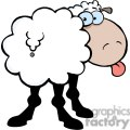 2669-Royalty-Free-Funky-Sheep-Sticking-Out-His-Tongue