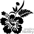 black and white hawaiian flowers