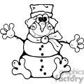 Froggie Snowman