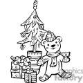 christmas bear and tree gif, png, jpg, eps, svg, pdf