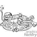 child snorkeling gif, png, jpg, eps, svg, pdf