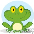 Cartoon-Cute-Frog-Character-with-blue-background