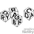 Black anad white outline of building blocks
