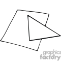 black and white outline of a geometry triangle  gif, png, jpg, eps, svg, pdf
