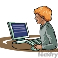 cartoon boy finding information on the internet  gif, png, jpg, eps, svg, pdf