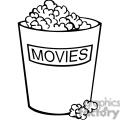 movie popcorn outline gif, png, jpg, eps, svg, pdf