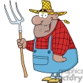farmer with a rake