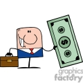 businessman with a huge dollar