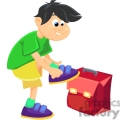 boy getting ready for school gif, png, jpg, eps, svg, pdf