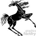 excited horse design