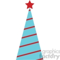 striped Christmas tree design