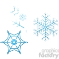 vector snowflake parts gif, png, jpg, eps, svg, pdf