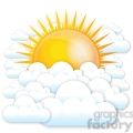 vector sun and clouds gif, png, jpg, eps, svg, pdf