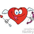 102554-cartoon-clipart-happy-heart-cupid-with-a-bow-and-arrow  gif, png, jpg, eps, svg, pdf