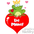102277-Cartoon-Clipart-Frog-Prince-On-A-Red-Heart