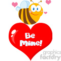 102582-Cartoon-Clipart-Cute-Bee-A-Red-Heart