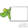 102540-Cartoon-Clipart-Happy-Crocodile-Looking-Around-A-Blank-Sign