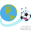 102550-Cartoon-Clipart-Cartoon-Soccer-Ball-Fly-Around-The-Globe