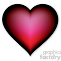 red glowing heart vector clip art image