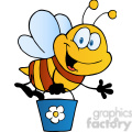 cartoon-bee-holding-a-bucket