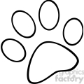 royalty-free-rf-copyright-safe-outlined-paw-print  gif, png, jpg, eps, svg, pdf